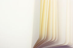 Paper sheets macro, horizontal copy-space Royalty Free Stock Image