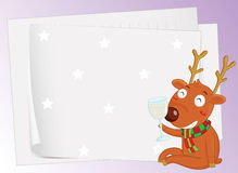 Paper sheets and a reindeer Stock Image