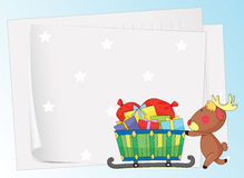 Paper sheets and a reindeer Royalty Free Stock Photography