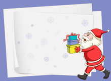 Paper sheets and santa claus Royalty Free Stock Photography
