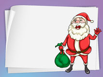 Paper sheets and santa claus Stock Photography