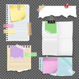 Paper Sheets With Stationery Set stock illustration