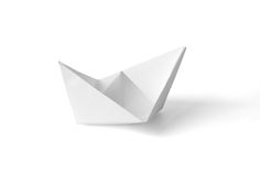 Paper ship. Isolated on white background Stock Image
