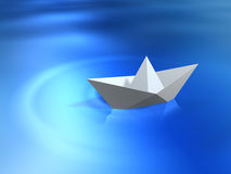 Paper ship Stock Images