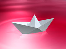 Paper ship Royalty Free Stock Photography