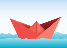 Paper Ship. Illustration of a paper ship Royalty Free Stock Photos