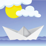 Paper Ship. Illustration of a paper ship Stock Photography