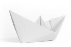 Paper ship stock photo
