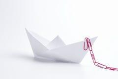 Paper ship Stock Image