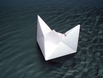 Paper ship Stock Image