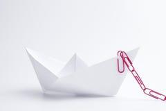 Paper ship Stock Photos