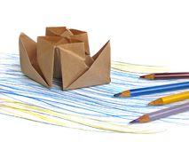 Paper Ship Royalty Free Stock Photos