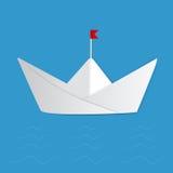 paper ship Arkivfoto