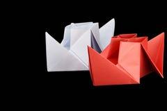 paper ship Arkivfoton