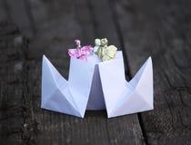 Paper ship Stock Photo