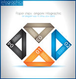 Paper ship origami infographics Royalty Free Stock Image