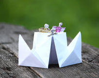 Paper ship Stock Photography