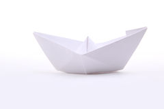 Paper ships. Isolated on white royalty free stock image