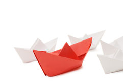 Paper ships Royalty Free Stock Photography