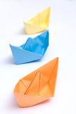 Paper ships Royalty Free Stock Images