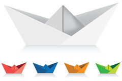 Paper Ships. Set of paper ship illustrations Royalty Free Stock Photo