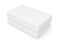 Paper shoe box on white Royalty Free Stock Photos