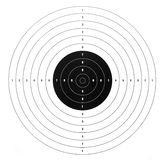 Paper shooting target. For shooting practice Royalty Free Stock Image
