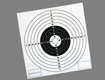 Paper shooting target over grey - bullseye Stock Photography