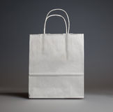 Paper shopping back. Paper shopping bag studio shot Stock Image