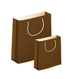 Paper Shopping Bag. On white background Royalty Free Stock Photography