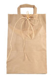 Paper shopping bag. Isolated on white background Royalty Free Stock Photo