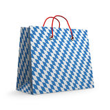 Paper shopping bag with Bavarian flag pattern Stock Photography