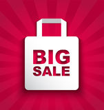 Paper shopping bag BIG SALE Royalty Free Stock Images