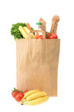 Paper shopping bag with food Royalty Free Stock Photo