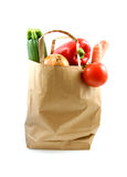 Paper shopping bag with grocery Stock Photos