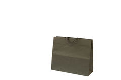 Paper shopping  bag with Handles Isolated Royalty Free Stock Photos