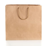 Paper shopping bag with handles Stock Photography
