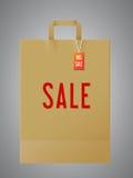 Paper shopping bag royalty free illustration