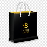 Paper Shopping Bag isolated on transparent background. Template for Mock Up. vector illustration