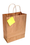 Paper Shopping bag with note Royalty Free Stock Photos
