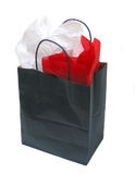 Paper shopping bag with tissue Stock Photography