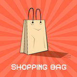 Paper Shopping Bag Vector Illustration Stock Photos