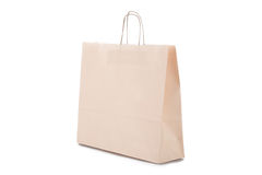 Paper shopping bag on white background Royalty Free Stock Image