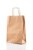 Paper shopping bag on white Stock Image