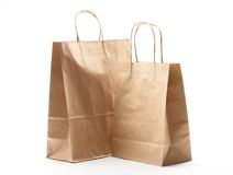 Paper shopping bags Stock Photography