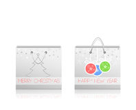 Paper shopping bags. Christmas holidays Stock Photos