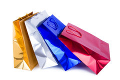 Paper shopping bags Royalty Free Stock Images