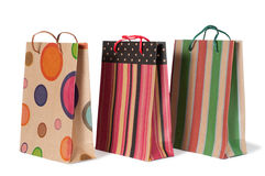 Paper shopping bags. Shopping bags isolated on white background Royalty Free Stock Image