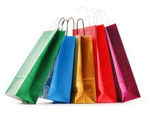 Paper shopping bags on white Stock Image