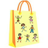 Paper shopping bags for your design Stock Photo